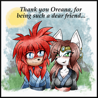 Gift: Oreana Thank you by DragonQuestHero