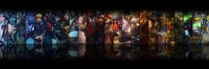 League of Legends Dual Screen Wallpaper by beNN94