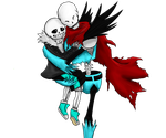 The pic I drew for my journalSkin UV!Papy and Sans by Jeyawue