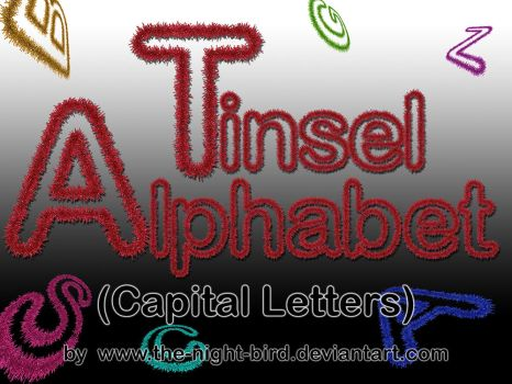 TINSEL CAPITAL LETTERS PNG's by the-night-bird