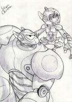 Baymax And Hiro -Disney's Big Hero 6 by filipeoliveira