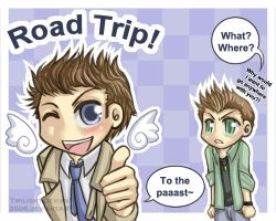 SPN: Road Trip with Castiel by Twilight-Deviant