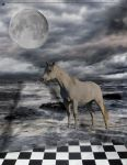 Horse in the Moonlight by GiantsMAD