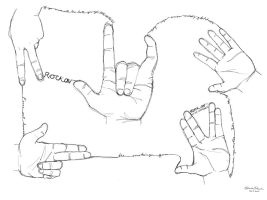 Contour Hands by forevergeek