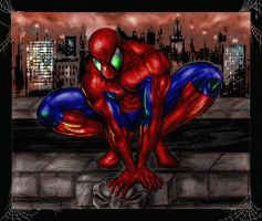 Spiderman Over the City by Robert A. Marzullo by ramstudios1