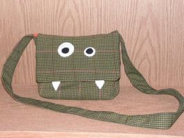 Tweed Monster Purse by pinktoque