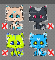 Kitty adoptables SET 1 by SylwiaPakulska