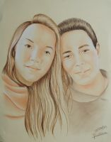 Portrait - Louis and Camille by Anaponey2000