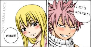 Fairy tail Natsu and Lucy by cheeryY
