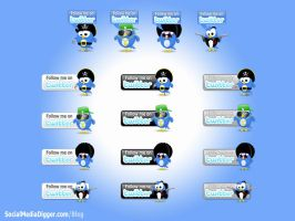 Twitter Button Pack 2 by Kamarashev