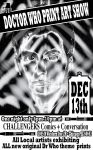 B/W poster 4 dr who show by artist Tom Kelly by TomKellyART