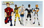 My DCU - Legion of Super-Heroes Redesigns Team B by Femmes-Fatales
