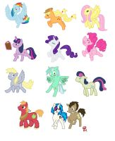 Bunch a' Ponies on Parade by MineralRabbit