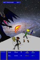 Dell and Clad versus Inferno and a Black Dragon by Dell-AD-productions