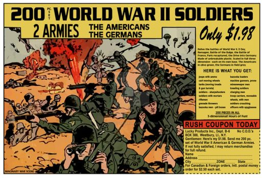 200 WWII Soldiers Comic Book Ad by KingCoaster