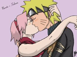 Naruto and Sakura by AlphaDelta1001