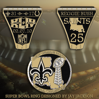 Saints Super Bowl Ring by JayJaxon