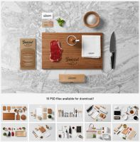 Restaurant and Food Mock-Up by forgraphic