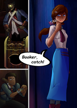 Bioshock Infinite comic page by GregBubbles