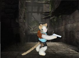 Lara Croft in the Tombs by SocksAndFudge
