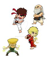 StreetFighter chibis 1 by ElGota