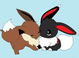 Velvet and Eevee by ashleybroses