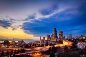 Seattle Skyline by Shadoweye-206