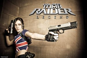 Cosplay Lara Croft - Tomb Raider Legend Union Jack by MissCroftCosplay