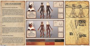 Commission: Fire Satyr Reference Sheet by MarikBentusi