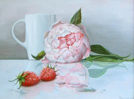 Peony and strawberries by chebot