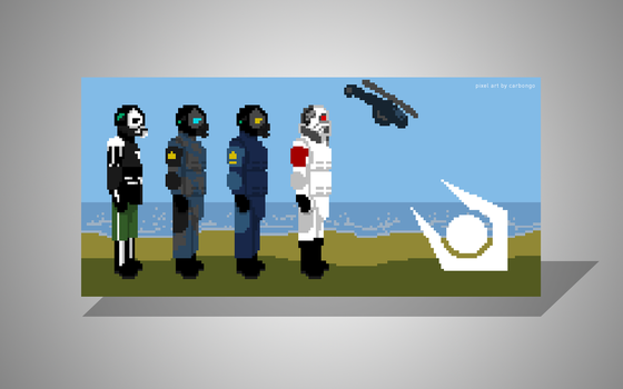 The Combine Earth Forces (Half-Life 2) pixel art 1 by carbongo