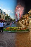 Day and Night Main Street U.S.A by ExplicitStudios