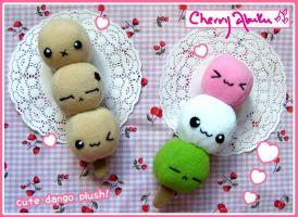Dango plushies by CherryAbuku