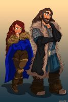 Aveya and Thorin by kallielef