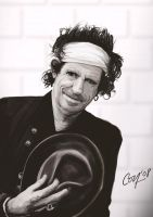 Keith Richards Portrait by artcova