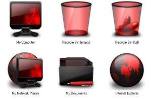 Red Icons for IconTweaker by shamka