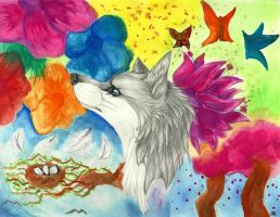 Spring .:Contest Entrie:. by LukeWolf6