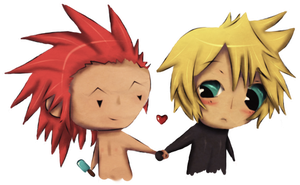 Chibi Axel and Roxas by Ascleme
