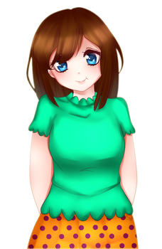 Art trade with Optimistic-Ocress by Megumi-ChanYT