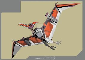 Battle Wing Pteranodon Go by SnowBallNoble