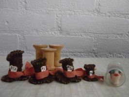 tiny mathatter hats by SoDarkSoCute