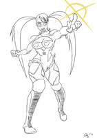 Rainbow Mika Lineart by ChuMeng