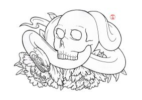 Skull and Snake by Laranj4