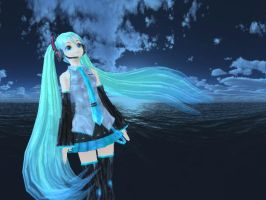 MMD Miku -Ginshi style- by Brinb11