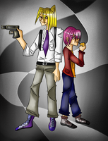 K and Shuichi from Gravitation by Neocco