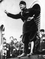 Mussolini shaking his fist by ShitAllOverHumanity