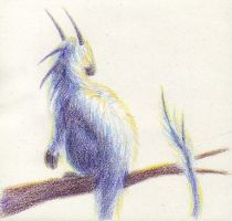 Fuzzdragon in Color Pencil by soyrwoo