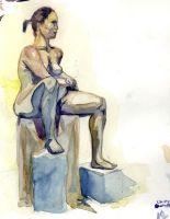 Figure Painting watercolor by TheAmericanDream