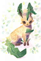Leafeon Watercolor by inki-drop