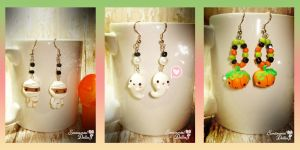 Kawaii Halloween Spooky Earrings by SentimentalDolliez